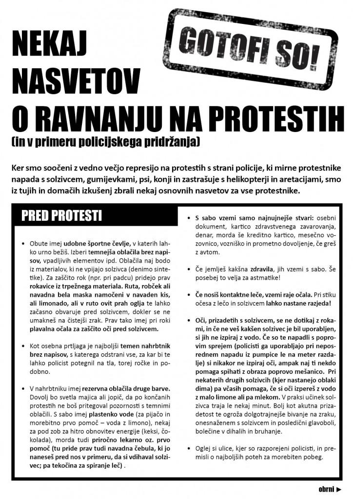 Ravnanje na protestih